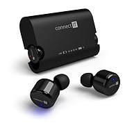 Bluetooth Headset CONNECT IT True Wireless HYPER-BASS schwarz - Kopfhörer mit Mikrofon