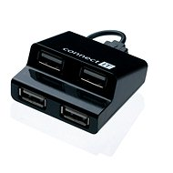 USB Hub CONNECT IT CI-108 Step schwarz