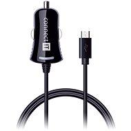 CONNECT IT InCarz Ladegerät mit Micro-USB-Kabel 1,5 m, schwarz - Kfz-Ladegerät