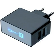 Netzladegerät CONNECT IT CI-153 Dual Charger 230V schwarz