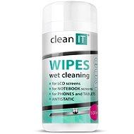 CLEAN IT Nassreinigungstücher für Bildschirmreinigung 100 Stück - Reinigungsmittel