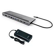 I-TEC USB-C Metall-Dockingstation mit 4K-Dreifachdisplay und geringer Bauhöhe und 85 W + I-TEC unive - Dockingstation