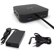 i-tec USB-C-Dockingstation mit zwei Displays und Stromversorgung 65 W + i-tec Universal-Ladegerät 77 W - Dockingstation
