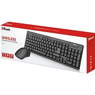 Trust Trust Ziva kabellose Tastatur und Maus CZ / SK - Tastatur/Maus-Set
