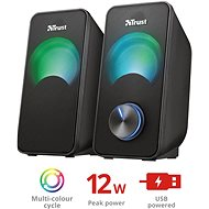Trust Arys Compact RGB 2.0 Speaker Set - Lautsprecher