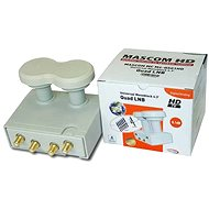 LNB Mascom Monoblock Quad MCM4QS01HD Gold 4.3° - Konverter
