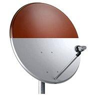 TeleSystem Satelliten-Eisen-Parabel 74x84cm Rot - Parabole