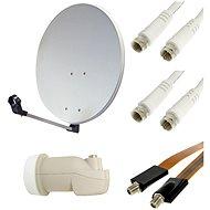 Parabolantennen Set für TV mit Satellitentuner - 1 Satellitenschüssel, 1 Empfänger - Parabole