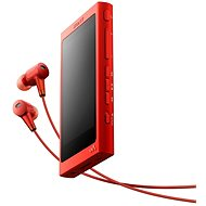 Sony Hi-Res WALKMAN NW-A35 Rot+ Kopfhörer MDR-EX750 - MP3 Player