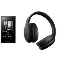 Set Sony MP4 16 GB NW-A105L schwarz + Sony Hi-Res WH-H910N schwarz - Sada