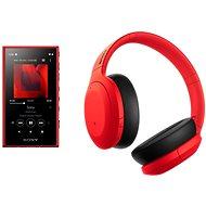 Set Sony MP4 16 GB NW-A105L rot + Sony Hi-Res WH-H910N rot-schwarz - Sada