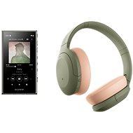 Set Sony MP4 16 GB NW-A105L grün + Sony Hi-Res WH-H910N grün - Sada