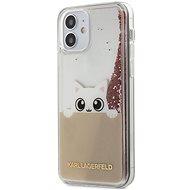 Karl Lagerfeld Liquid Glitter Peek a Boo für Apple iPhone 12 Mini Pink - Handyhülle