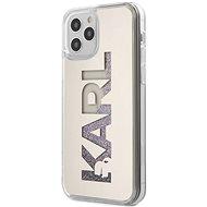 Karl Lagerfeld Liquid Glitter Mirror für Apple iPhone 12 Pro Max Silver - Handyhülle