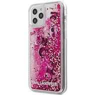 Karl Lagerfeld Liquid Glitter Charms für Apple iPhone 12/12 Pro Pink - Handyhülle