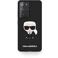 Handyhülle Karl Lagerfeld Iconic Full Body Silikon Cover für Samsung Galaxy S21 Ultra - schwarz - Kryt na mobil