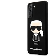 Handyhülle Karl Lagerfeld Iconic Full Body Silikon Cover für Samsung Galaxy S21 - schwarz - Kryt na mobil