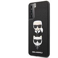 Handyhülle Karl Lagerfeld Saffiano K&C Heads Cover für Samsung Galaxy S21 - schwarz - Kryt na mobil