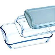 SIMAX Bräter quadratisch - 2,5 Liter + 1,9 Liter - Glas und Kunststoff - Bräter