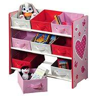 Kesper Kinderregal mit 9 Stoffboxen, pink - Regal