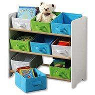 Kesper Kinderregal mit 9 Stoffboxen, weiß - Regal