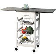 Kesper Küchenrollwagen mit klappbarer Arbeitsfläche - Regal