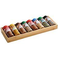 Kesper Box aus Bambus, mit 8 Fächern - Gewürzglas-Set