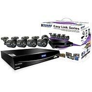 KGUARD Hybrid 4-Kanal-DVR-Recorder + 4 x Farb-Outdoor-Kamera - Kamerasystem