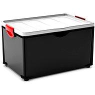 Aufbewahrungsbox KIS Clipper Box XL mit Deckel schwarz-grau 60l - Aufbewahrungsbox