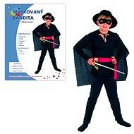 Karnevalskleid - Maskierter Bandit Größe M - Kinderkostüm