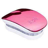 IKOO Pocket rosa-weiß - Haarbürste