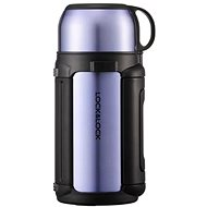Lock & Lock Thermoskanne mit Tasse 1,2 Liter Saphir-Gold - Thermosflasche