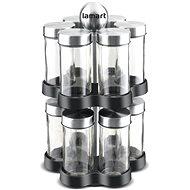 Lamart Gewürzset mit Ständer LT7044 STEEL - Gewürzglas-Set