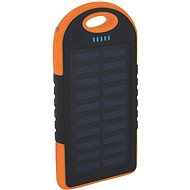 XLAYER Powerbank PLUS Outdoor Solar 4000mAh schwarz/ orange - Power Bank