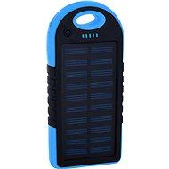 XLAYER Powerbank PLUS Solar 4000mAh schwarz/blau - Powerbank