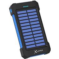 XLAYER Powerbank PLUS Solar 8000mAh schwarz / blau - Powerbank