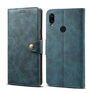 Lenuo Leather für Xiaomi Redmi Note 7, blau - Handyhülle
