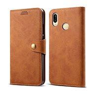 Lenuo Leather für Huawei P30 Lite/P30 Lite New Edition, Braun - Handyhülle