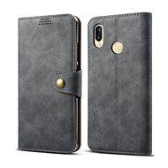 Lenuo Leather für Huawei P30 Lite/P30 Lite New Edition, Grau - Handyhülle
