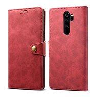 Lenuo Leather für Xiaomi Redmi Note 8 Pro, Rot - Handyhülle