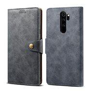 Lenuo Leather für Xiaomi Redmi Note 8 Pro, Grau - Handyhülle