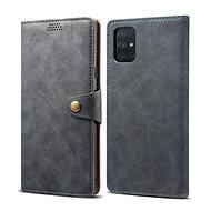 Lenuo Ledercover für Samsung Galaxy A71 - grau - Handyhülle