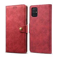 Lenuo Ledercover für Samsung Galaxy A71 - rot - Handyhülle