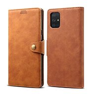 Lenuo Ledercover für Samsung Galaxy A51 - braun - Handyhülle