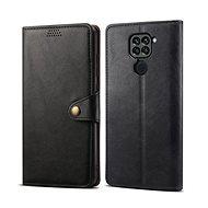 Lenuo Leder-Handyhülle für Xiaomi Redmi Note 9, schwarz - Handyhülle