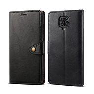 Lenuo Leder-Handyhülle für Xiaomi Redmi Note 9 Pro / Note 9S, schwarz - Handyhülle