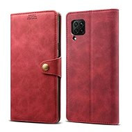 Lenuo Leather für Huawei P40 Lite - rot - Handyhülle