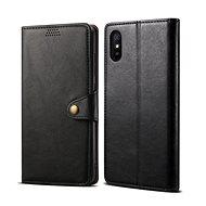 Handyhülle Lenuo Leder-Handyhülle für Xiaomi Redmi 9A, schwarz - Pouzdro na mobil