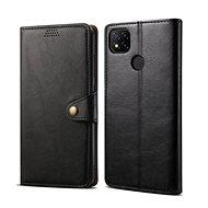 Handyhülle Lenuo Leder-Handyhülle für Xiaomi Redmi 9C, schwarz - Pouzdro na mobil