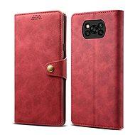 Handyhülle Lenuo Leder-Handyhülle für Xiaomi Poco X3, rot - Pouzdro na mobil